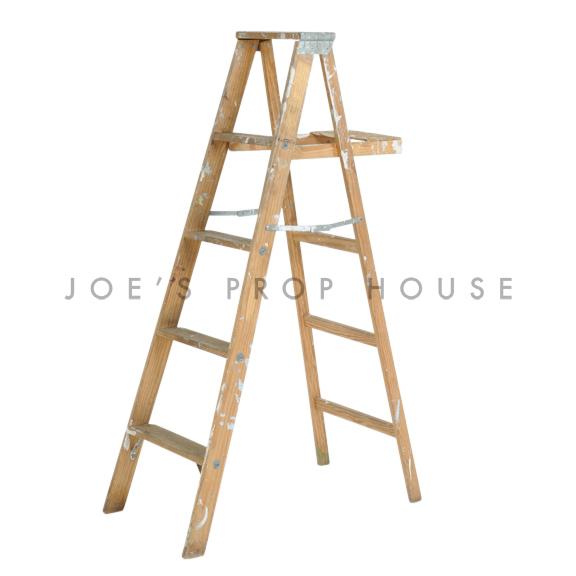 Vintage Wooden Ladder Brown