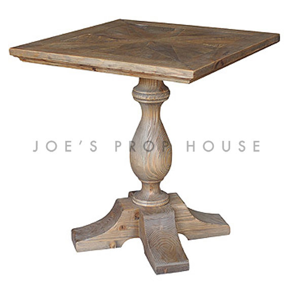 Reclaimed Square Cocktail Bistro Table