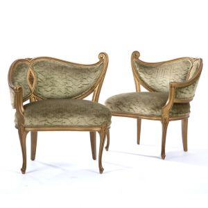 Swirl Chair Velour Green