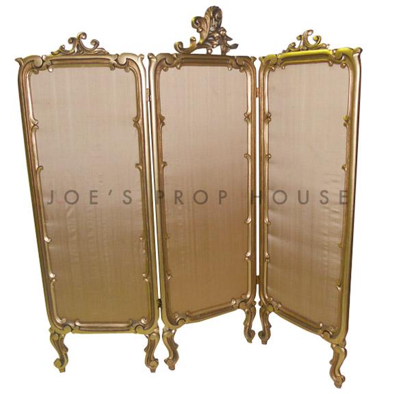Ornate Room Divider Gold