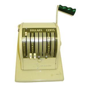 Vintage Manual Cheque Machine