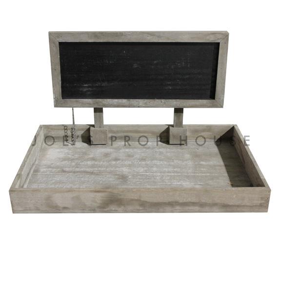 Russell Reclaimed Wood Chalkboard Tray