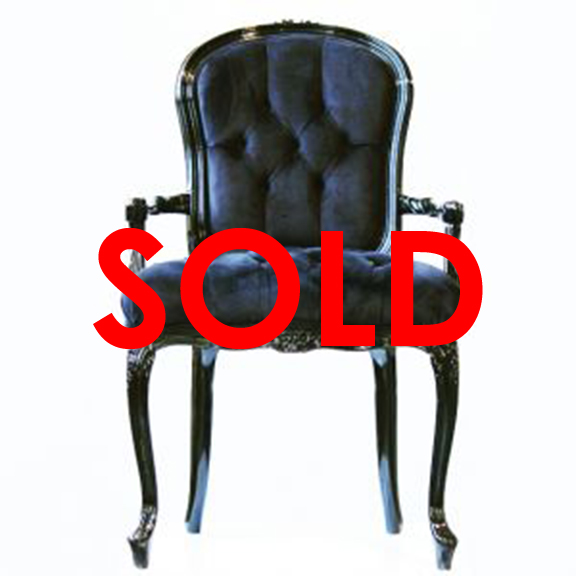 BUY ME / USED ITEM $325.00 each Moulin Noir Tufted Velour Armchair Black