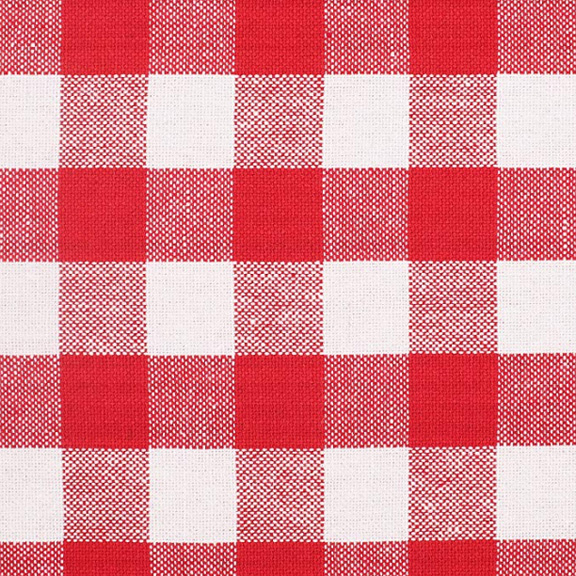 Red + White Checkered Tablecloth Square 54in x 54in