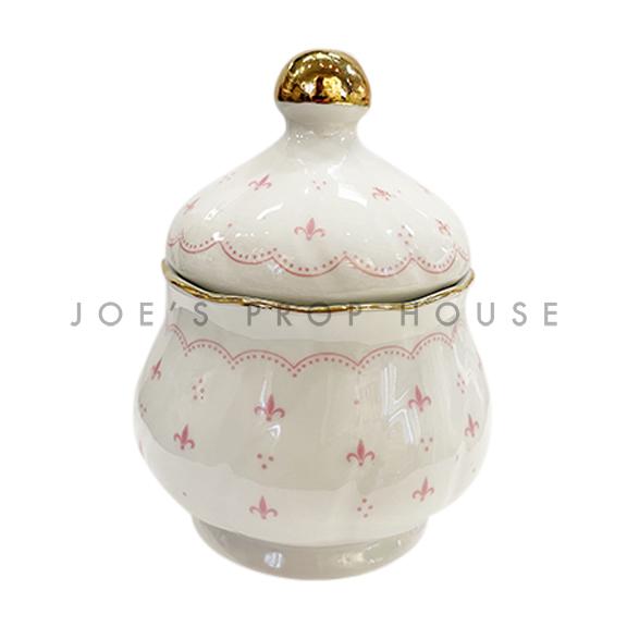 Abbey Porcelain Sugar Bowl with Lid