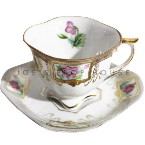 Gillian Floral Teacup and Saucer