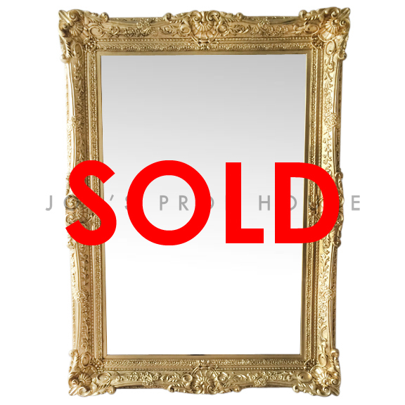 Victoria Ornate Self-Standing FLOOR Mirror Gold