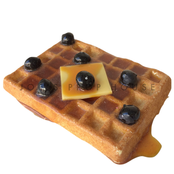 Waffle Topped w/Blueberries Food Prop