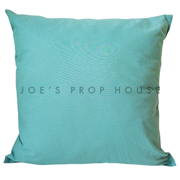 Turquoise Cotton Accent Pillow