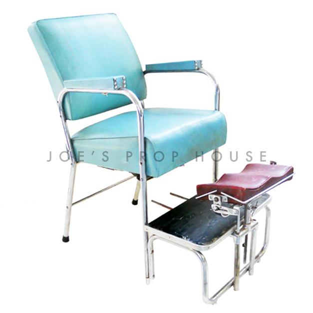 Shoeshine Chair Turquoise