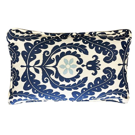 Capri Rectangular Accent Pillow Blue & Ivory