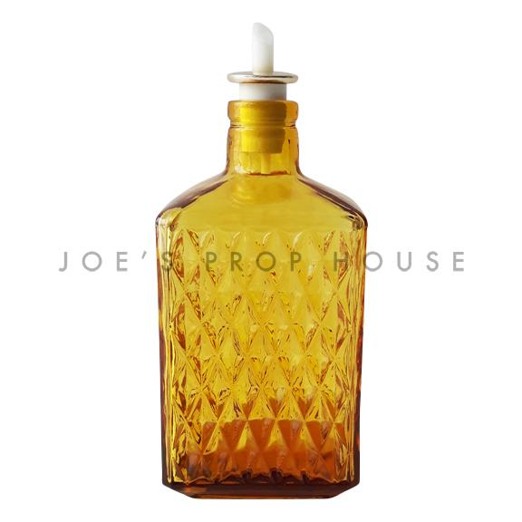 Dorrine Diamond Cut Glass Decanter Amber
