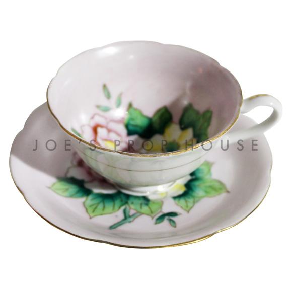 Leena Floral Teacup and Saucer