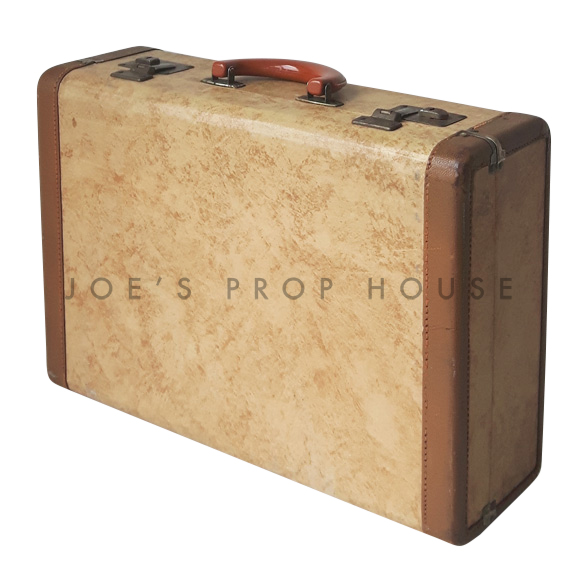 Ashford Hardshell Suitcase w/LIGHT BROWN Trim SMALL