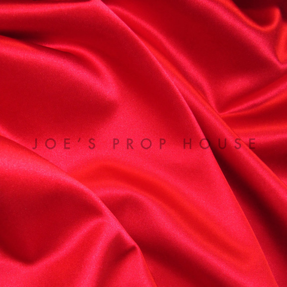 Red SATIN Tablecloth Round 120in