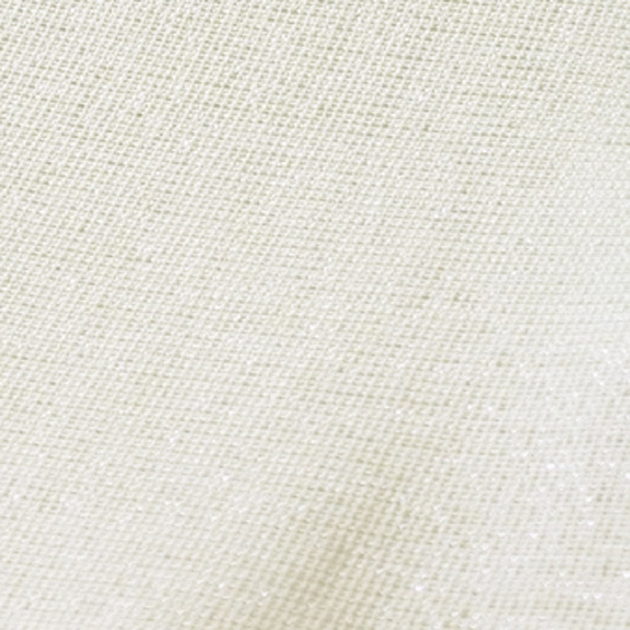 Ivory + Silver Metallic Thread VINTAGE LINEN Tablecloth Round 132in