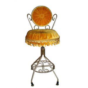 Vivian Vanity Velour Chair Gold