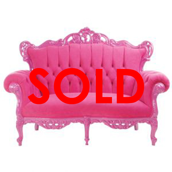 BUY ME / USED ITEM $950.00 each Fuchsia Baroque Loveseat