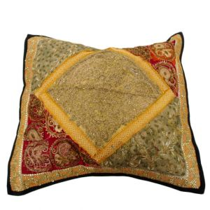 Beaded Embroidered Pillow