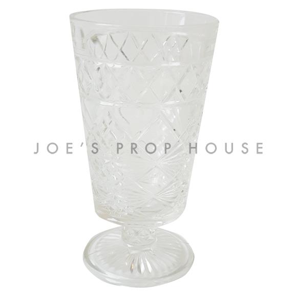Short Stem Clear Cut Glass Goblet