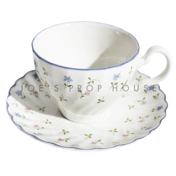 Eleanna Floral Teacup and Sacuer