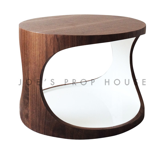 Geoff Faux Wood Round Cutout Coffee Table