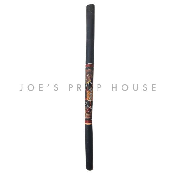 Shukura Traditional Hand Painted Bamboo Digeridoo Black