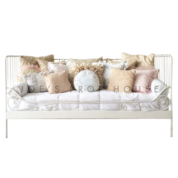 Ella Daybed w/Assorted Print Pillows W76.75in x D39.5in x H37.5in