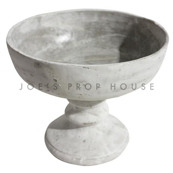 Faux Stone Pedestal Bowl