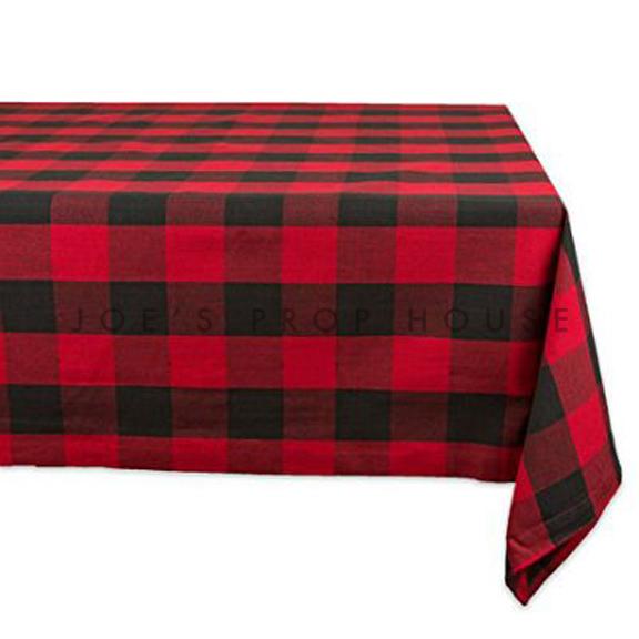 Red Buffalo Plaid Rectangular Tablecloth