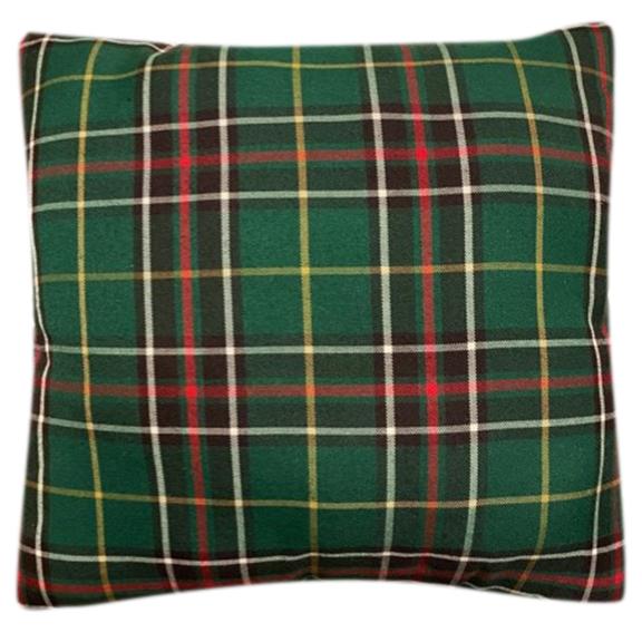 Green Plaid Accent Pillow