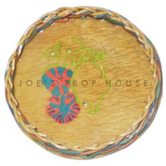 St Lucia Round Wood Serving Tray