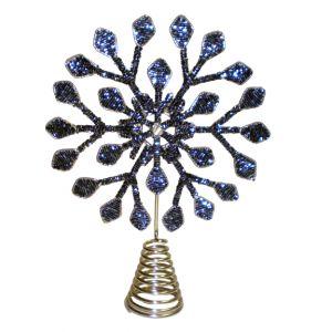 Blue Snowflake Tree Topper