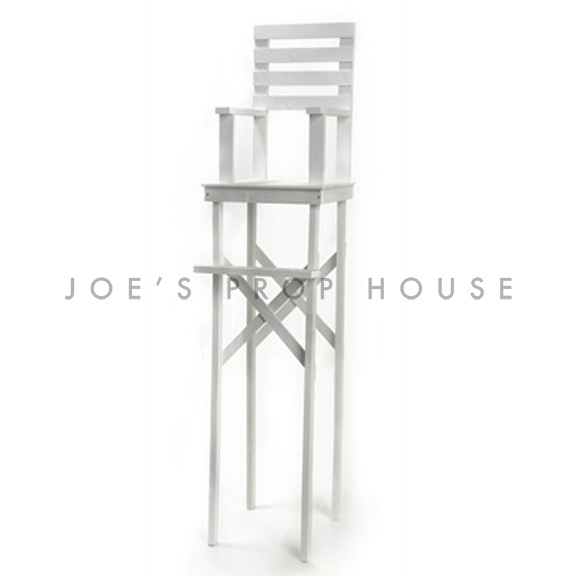 Wooden Lifeguard Chair White