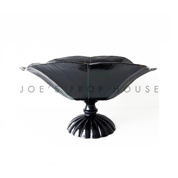 Blossom Metal Pedestal Vase Black W13in x D10in x H8in